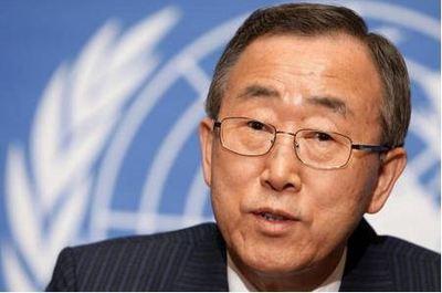 Le secrétaire général de l'ONU Ban Ki-moon. Photo (c) Yaiza Gómez