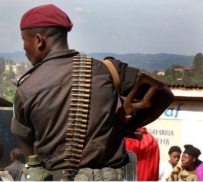 Garde du corps de Madame Kabila à Bukavu (c) Bruno L'Hoste