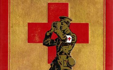 """Couverture du livre """"Rhymes of a Red Cross Man"""", 1916. (c) Charlotte Service-Longépé"""