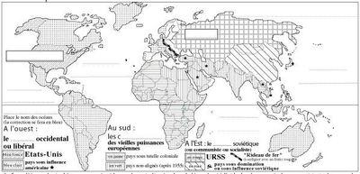 Le monde géopolitique en 1945 par le collège Joseph Suacot (c)