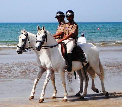 La police montée d'Oman (c) Kuwaitswimming