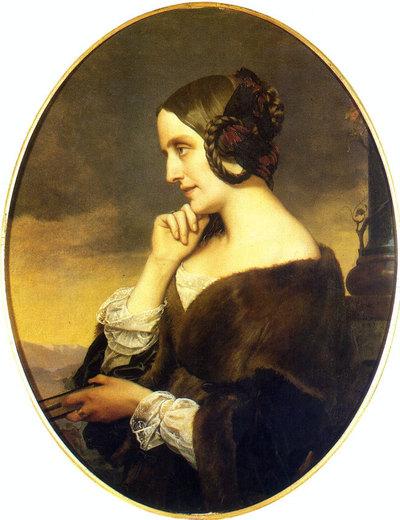 Portrait de Marie d'Agoult (1843) par Henri Lehmann (1814 -1882) (c) DR
