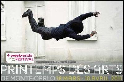 Affiche du Printemps des Arts 2011