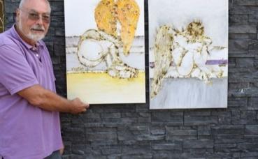 Vicario, un artiste qui joue avec le feu. Photo (c) Cindy Giraud.