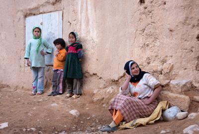 Une famille marocaine vivant à la campagne. Photo (c) Thomas Young