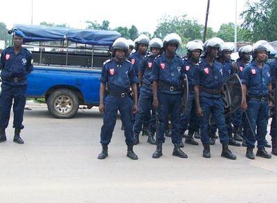 La police est mobilisée pour mater toute marche de protestation en cette période postélectorale. (c) Polycarpe TOVIHO