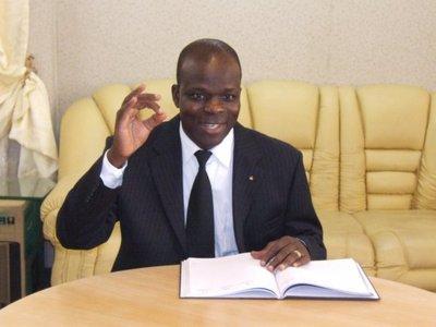 Raphaël Akotègnon, député de l'opposition arrêté lors de la marche du 24 marrs à Cotonou. (c) Polycarpe TOVIHO