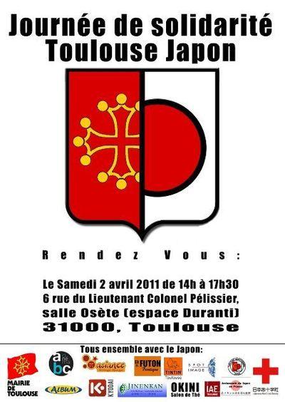 Journée de solidarité pour le Japon à Toulouse - Samedi 2 avril 2011