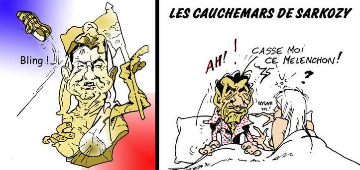 DESSIN DE PRESSE: Les cauchemars de Sarkozy
