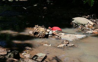 Une rivière polluée (c) Emmanuel Tusevo Diasamvu