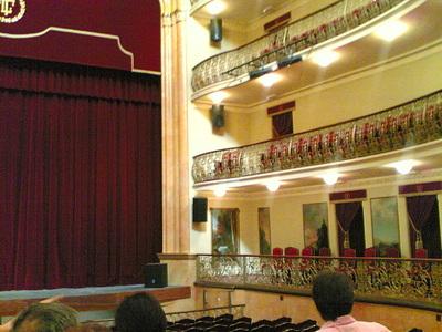 Vue du parterre au Teatro Leal de la Lguna après sa réouverture le 8 septembre 2008 (c) F15M5