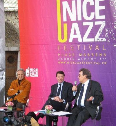 John Mc Laughlin, Christian Estrosi et Harry Lapp. Photo (c) DR