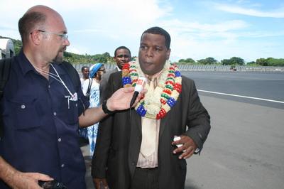 Le nouveau président du conseil général de Mayotte, Daniel Zaidani. (c) E. Tusevo Diasamvu