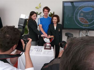 Mélanie-Antoinette de Massy, Andy Murray, Elizabeth-Ann de Massy. Photo (c) Molly Brown