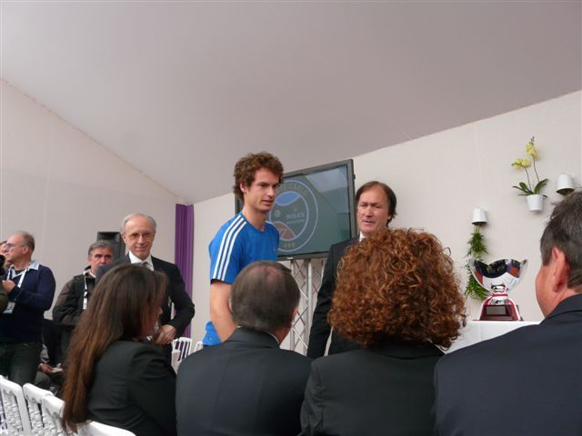 Andy Murray,  Zeljko Franulovic. Photo (c) Molly Brown