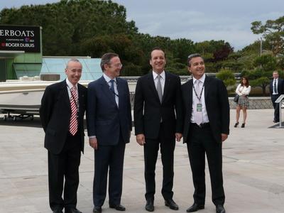 Arrivée du Maire de Monaco, Georges Marsan, pour l'inauguration de Top Marques. Photo (c) Islem Salmi