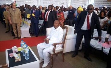 Le président Alpha Condé a présidé le lancement de la SENACIP 2018. Photo(c) Boubacar Barry