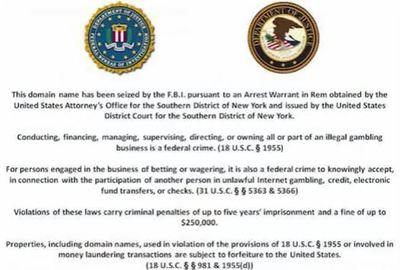 Copie d'écran du message officiel affiché sur les sites fermés.