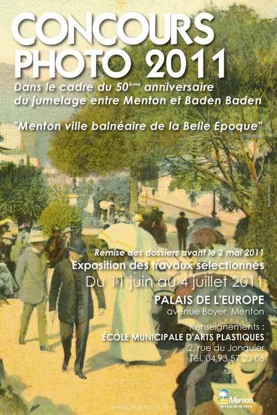 Affiche du concours photo Belle Epoque