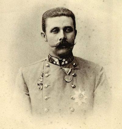 François-Ferdinand d'Autriche, d'après le cliché d'origine conservé au Stadt Museum de Graz. Photographe Carl Pietzner (1853-1927)