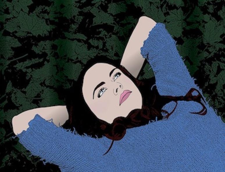 "Illustration "" jeune femme rêvant "" par (c) JooJoo41"