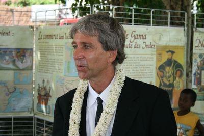 Hubert Grandjean, représentant du chef de délégation de l'UE dans l'océan indien basé à l'île Maurice (c) E. Tusevo-Diasamvu