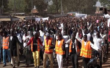 Les manifestants de Ouagadougou. Photo (c) P. Ilboudo
