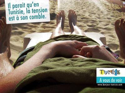 Un des trois visuels de la nouvelle campagne de promotion du tourisme de la Tunisie. Photo courtoisie.
