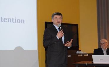 Jean-Noël Cren, président du directoire de la société Charron a réaffirmé le rôle facilitateur de la société dans le projet. Photo (c) Cindy Giraud