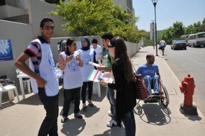 Trying to explain to the few participants! Photo (c) Ibrahim Chalhoub.