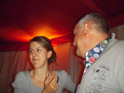 Nicole FERRONI Serge BRETEL Président du Festival Les Andain'Ries Photo (c) Jean-Louis Courleux