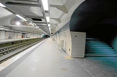 La station La Grande Poste du métro du centre-ville d'Alger. Photo (c) Ardastos