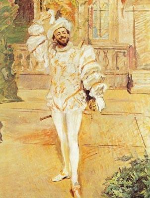 Portrait du baryton portugais Francisco d'Andrade (1856-1921) en Don Giovanni. Peinture de l'Allemand Max Slevogt en 1902