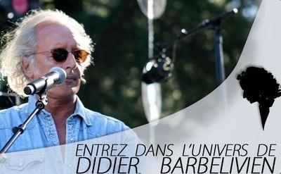 Cliquez sur l'image accéder au site officiel de Didier Barbelivien