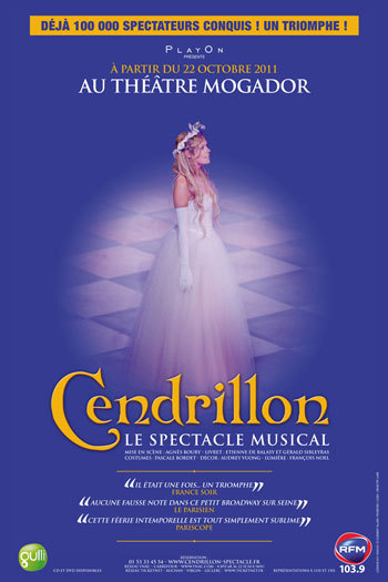 Cendrillon, le spectacle musical revient en octobre 2011 à Mogador