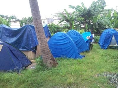 Les demandeurs d'asile vivent sous des tentes (c)Collectif des demandeurs d'asile et réfugiés de Mayotte.