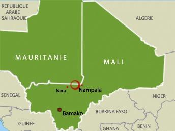La zone des opérations des armées mauritanienne et malienne contre l'Aqmi.  © RFI