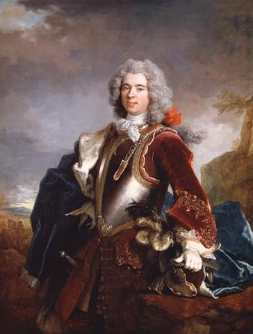 Portrait de Jacques Ier, prince de Monaco (1689-1751), peinture de Nicolas Largillière (1656–1746) Collection privée à Monaco