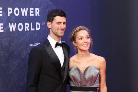 Novak Djokovic et son épouse. Photo (c) Serge Gloumeaud