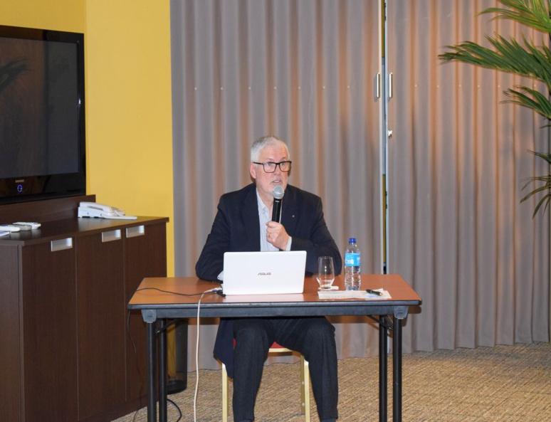 Rémi Loyer, ici lors de la présentation des avancées du projet, fin janvier. (c) Cindy Giraud.