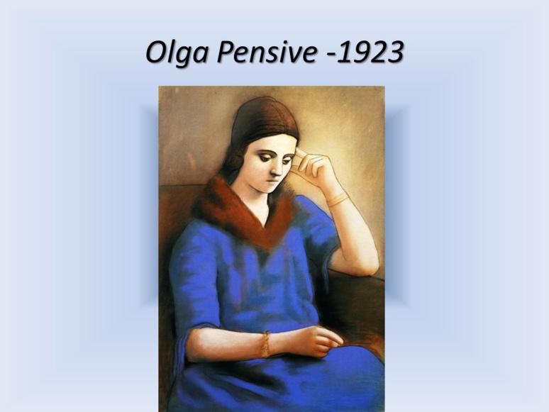Picasso a représenté plus d'une centaine de fois Olga (c) Les femmes dans les oeuvres...- slidePlayer