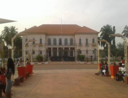 Le palais présidentiel de Guinée Bissau à Bissau (c) Geremias Manga