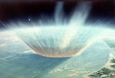 Impact cosmique. Image (c) NASAblueshift