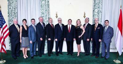 Les consuls présents à la réceoption aux Etats-Unis (c) CDP