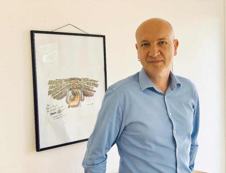Patrick Hauguel, délégué général de l'Insitut français au Burkina. Photo (c) A. Tapsoba