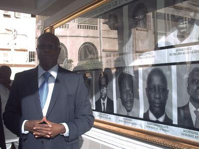 Le Ministre Kalidou Diallo inaugurant l'espace dédié (c) Elhadji Babacar MBENGUE