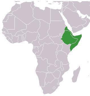 La Corne de l'Afrique. Illustration faisant partie du domaine public.