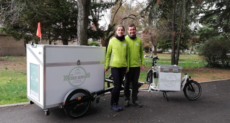 Albane et Erwan Carré, gérants des Colis verts. Photo (c) Isabelle Lépine