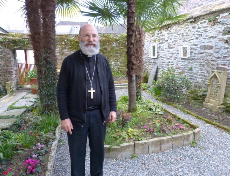 Mgr Centène le 15 mars à Malestroit (Morbihan). Photo (c) Arnaud Gicquello.