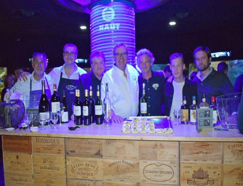 Les cinq amis ont présenté leur nouvelle aventure lors d'une soirée privée à l'aquarium de Saint-Malo. Comme un avant goût des saveurs à découvrir à bord. (c) Cindy Giraud.